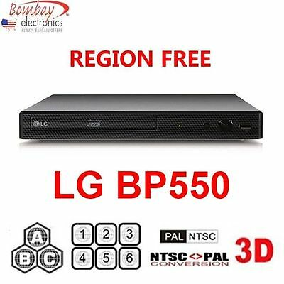LG BP550 Multi Region Free DVD 3D Blu-ray disc Player with