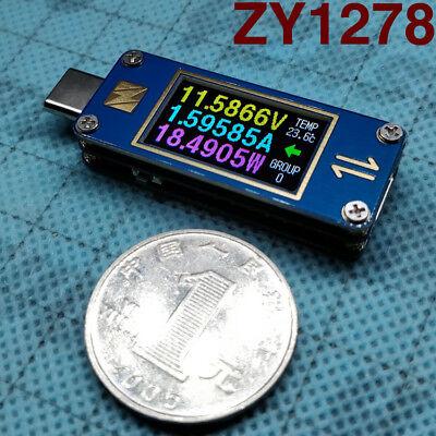 Two-way Yzxstudio Zy1278 Usb-c 3.1 Gen2 Type-c Voltage Ammeter Tester Meter