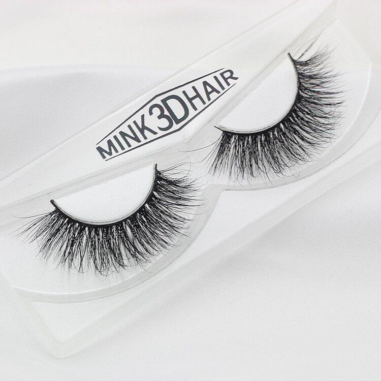 8226a5a6c38 Details about 3D 100% SIBERIAN MINK FUR SOFT THICK FALSE EYELASHES NATURAL  LONG LASHES
