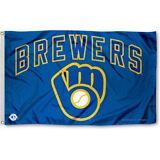 MILWAUKEE BREWERS FLAG 3'X5' MLB BREWERS GLOVE BANNER: FAST FREE SHIPPING