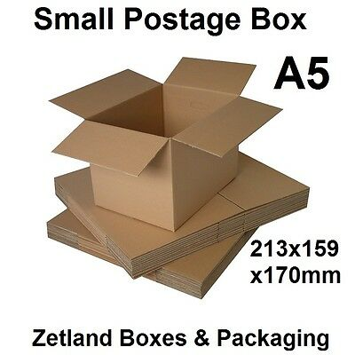 25x A5 - 213x159x170mm - Cardboard Small Parcel Postage Packing Box Boxes