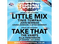 little mix tinie tempha fusion festival saturday 2nd september liverpool