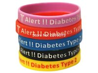 Diabetic medical alert wristband