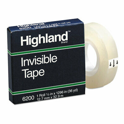 Highland Invisible Permanent Mending Tape 12 X 1296 1 Core Clear 6200121296
