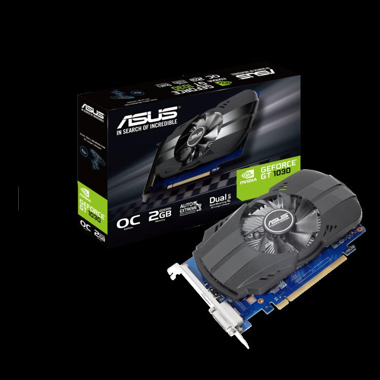 ASUS Phoenix GeForce PH-GT1030-O2G Grafikkarte (PCIe 3.0, 2GB GDDR5, HDMI, DVI)