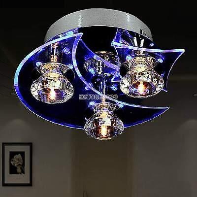 New Crystal LED 7W Ceiling Light Pendant Flush Lamp Fixture Lighting Chandelier