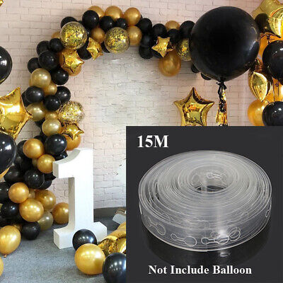 15M Balloon Decorate Strip Arch Garland Connect Chain DIY Tape Party Bar Decor