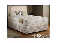 "*SAME DAY DELIVERY!**BRAND NEW-Single/Double Divan Bed With 11"" Thick Full Orthopaedic Mattress"