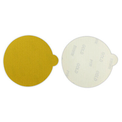 50 Pack - 6 Inch 40 Grit Gold Peel And Stick Adhesive Backed Psa Sanding Discs
