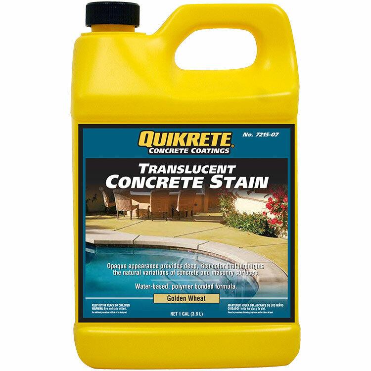 Quikrete Translucent Concrete Stain Golden Wheat gal