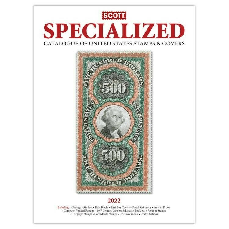 New 2022 Scott Specialized Catalog US Postage Stamp & Covers Best US Referance