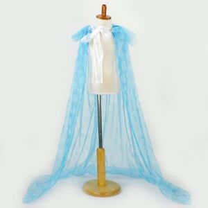 Fancy Dress Girls Frozen Elsa Princess Cape Snowflakes Cosplay New Costume Uk