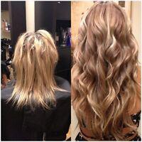 Extension de cheveux loop , tape. , keratine