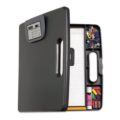 Officemate Portable Storage Clipboard Case Wcalculator 12w X 13 110h Charcoal