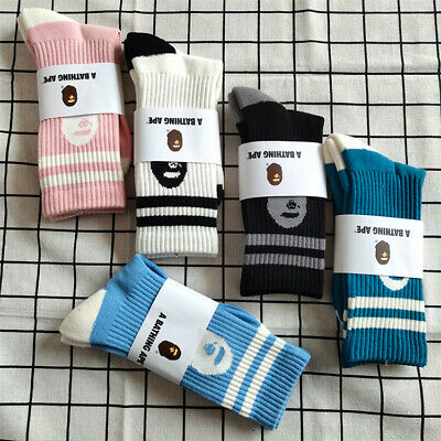 A BATHING APE Women Mens AAPE SOCKS Bape Socks US 8-12