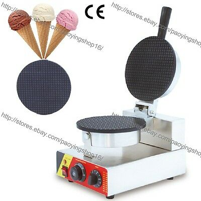 Commercial Electric Nonstick Regular Ice Cream Waffle Cone Maker Baker Machine