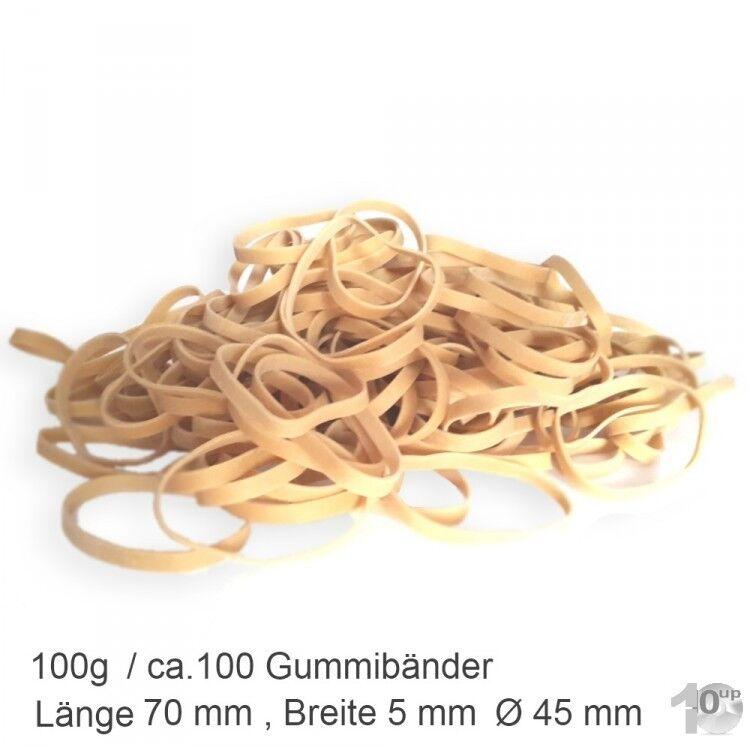100g Gummibänder, natur, Ø 45 mm, (L)70 mm x (B)5 mm