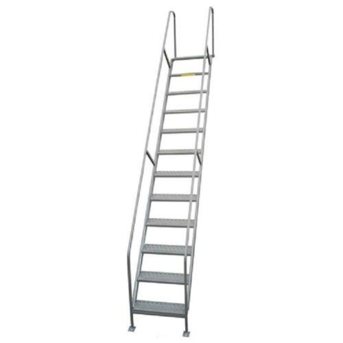 "NEW! P.W. Platforms 12 Step Steel Access Stairway, 24"" Step Width!!"