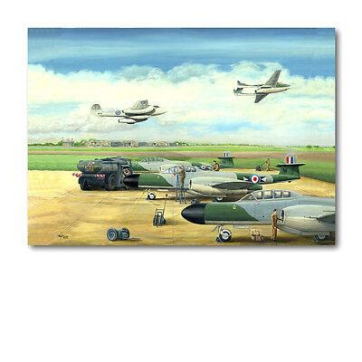 Meteor NF 11's Birthday Card (Ref eb274) RAF Plane Areoplane Aviation