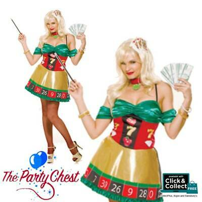 Lady Luck Costume (LADY LUCK ROULETTE ADULT COSTUME Casino High Roller Fancy Dress Outfit)