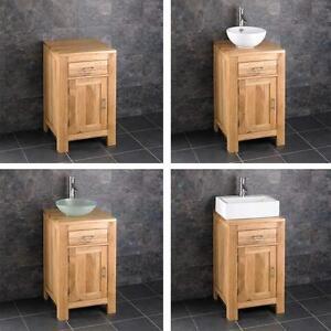45cm small bathroom vanity unit cabinet ceramic bowl basin various set