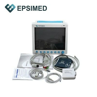 New Epsimed Fdace Multi-parameter Vital Signs Patient Monitor Cms8000 Ibp