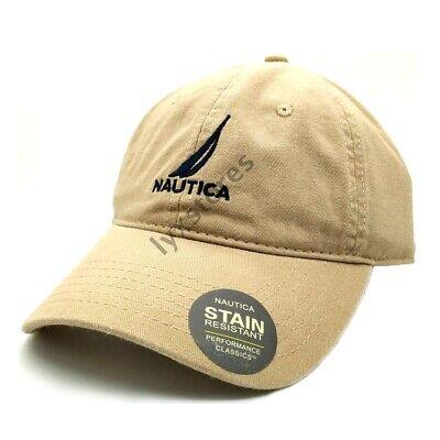 Nautica Cap Adjustable Unisex Classic Casual Baseball Golf Sport Khaki Hat