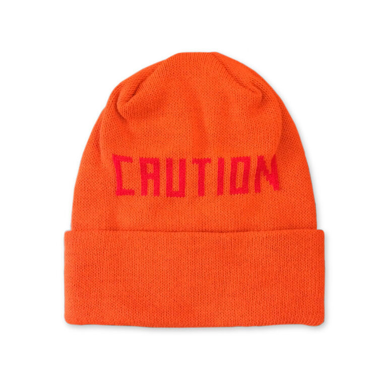 2015 NWT OWNER OPERATOR CAUTION KNIT HAT $35 one size safety orange beanie