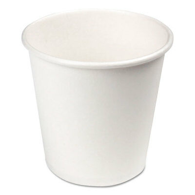 (Paper Hot Cups, 4 oz, White, 1000/Carton)