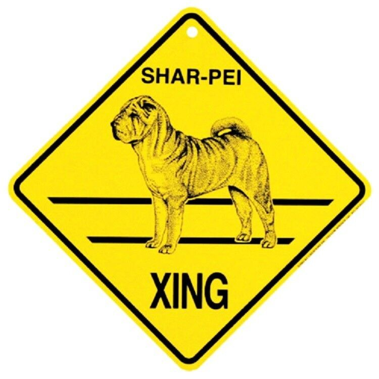 Shar-Pei Dog Crossing Xing Sign New Made in USA
