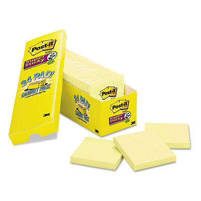 (Post-it Canary Yellow Note Pads 3 x 3 90-Sheet 24/Pack 65424SSCP)
