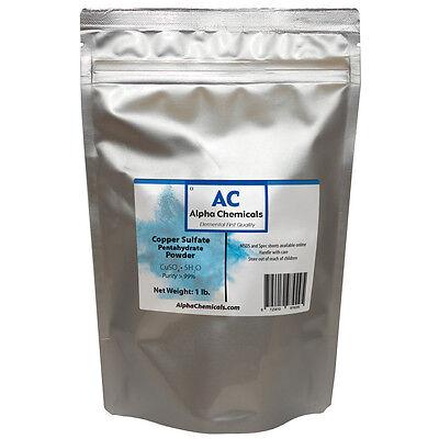 1 Pound - Copper Sulfate Pentahydrate Powder - 99 Pure