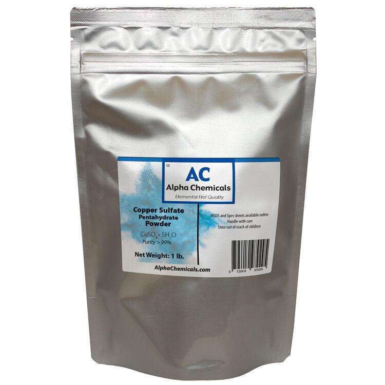 1 Pound - Copper Sulfate Pentahydrate Powder - 99% Pure