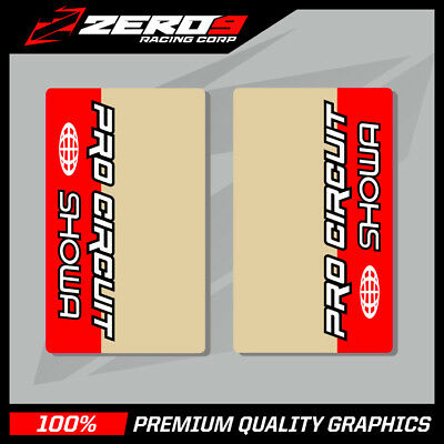 KYB UPPER FORK DECALS MOTOCROSS GRAPHICS MX GRAPHICS PROCIRCUIT CLEAR RED