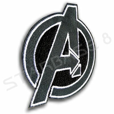 MARVEL THE AVENGERS COSTUME PATCH GREY 8cm KOSTÜM AUFNÄHER - ENDGAME INFINITY ()