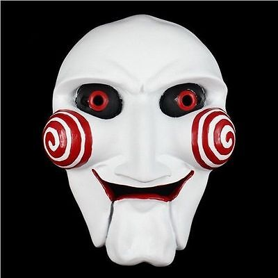 Scary Saw Jigsaw Masque Cosplay Halloween Party Resin Mask High Quality Props C](Scary Halloween C)