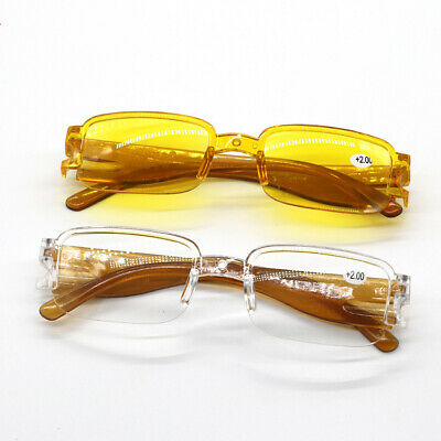 Semi-frame Fashionable Half-rim reading glasses with tint Sunglasses (Sunglasses With Reading Glasses)