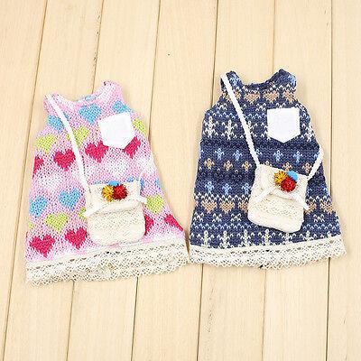 Knitting Wool Dress + Shoulder Bag For Fat Girl Blythe Doll Factory Fat  Blythe