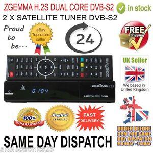 ORIGINAL ZGEMMA H.2S DUAL CORE SATELLITE RECEIVER DVB-S2 TUNER FREE TO AIR