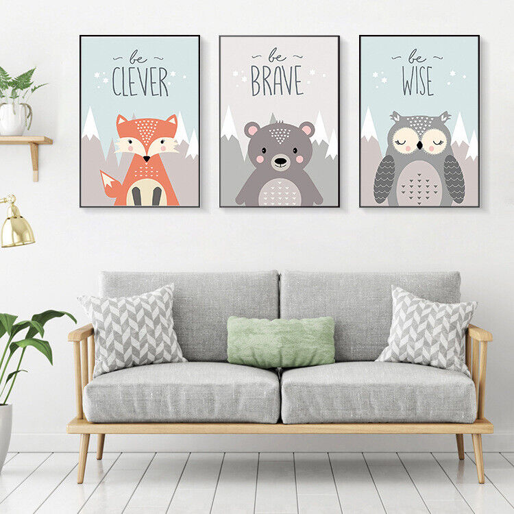 Baby Room Art Canvas Paint Hanging Wall