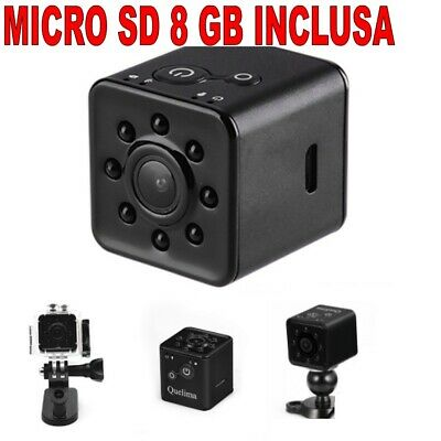 Mini DVR Wifi + Micro SD 8 GB Video Camera SQ13 1920X1080 Full HD 30fps 155° Fps Dvr