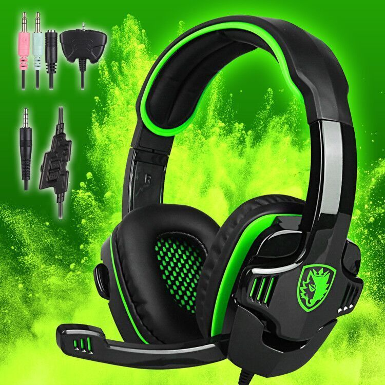 Купить SADES Sa-708 - Sades 3.5mm Surround Stereo Gaming LOL Headset Headband Headphone PC w/ Mic PS4