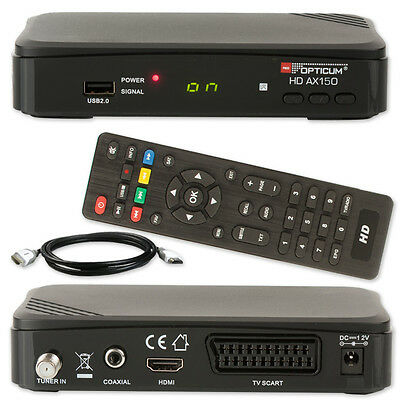 HD Sat Receiver Digital OPTICUM AX150 AX 150 HDMI DVB-S2 S60 1080p USB HDTV FULL