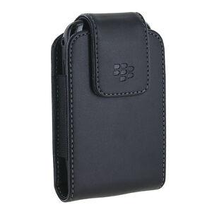 Blackberry Leather Swivel Holster Case