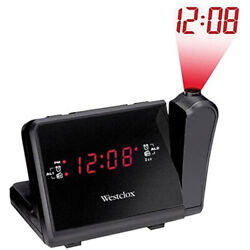 Westclox Digital AM/FM Radio Projection Alarm Clock 80208