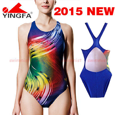 NWT YINGFA 612 COMPETITION TRAINING RACING SWIMSUIT M US GIRLS 12-14 MISS 4 NEW!