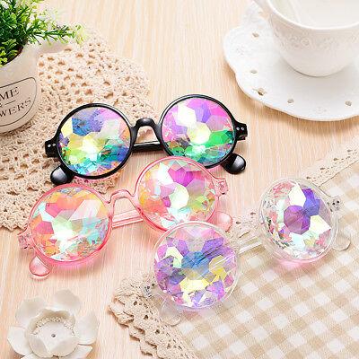 Festival Party Rave Kaleidoscope Rainbow Round Glasses Diffraction Crystal (Kaleidoscope Lens)