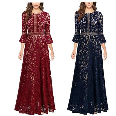 Women Dubai Abaya Hollow Lace Muslim Dress Long Dress Party Islamic Dress