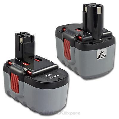 2 x 24V Extended 3.0AH Ni-Mh Battery for Bosch BAT030 BAT031