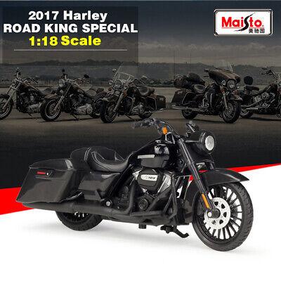1/18 2017 Harley Davidson ROAD KING SPECIAL Motorcycle Diecast Metal Model Toys